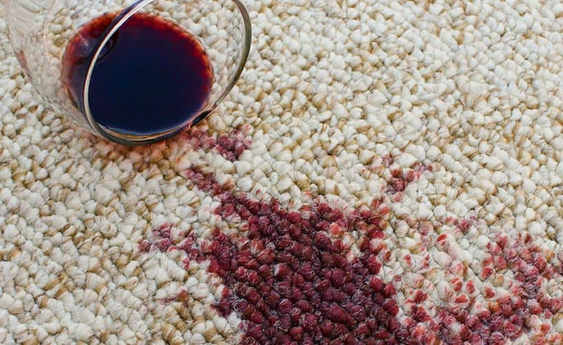 carpet cleaning - spilled red wine