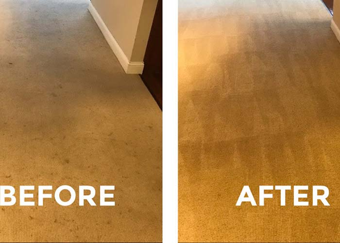 cleaning services in West Hartford - carpet before & after